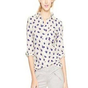 Apple Print Button Down Shirt in Soft Cotton